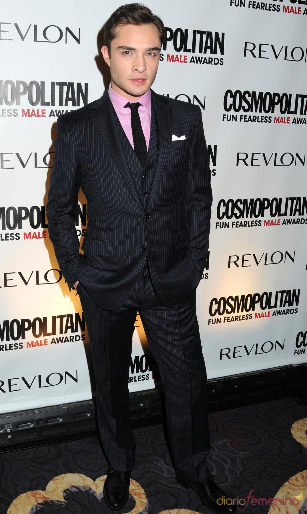 Ed Westwick en los premios Cosmo 2010