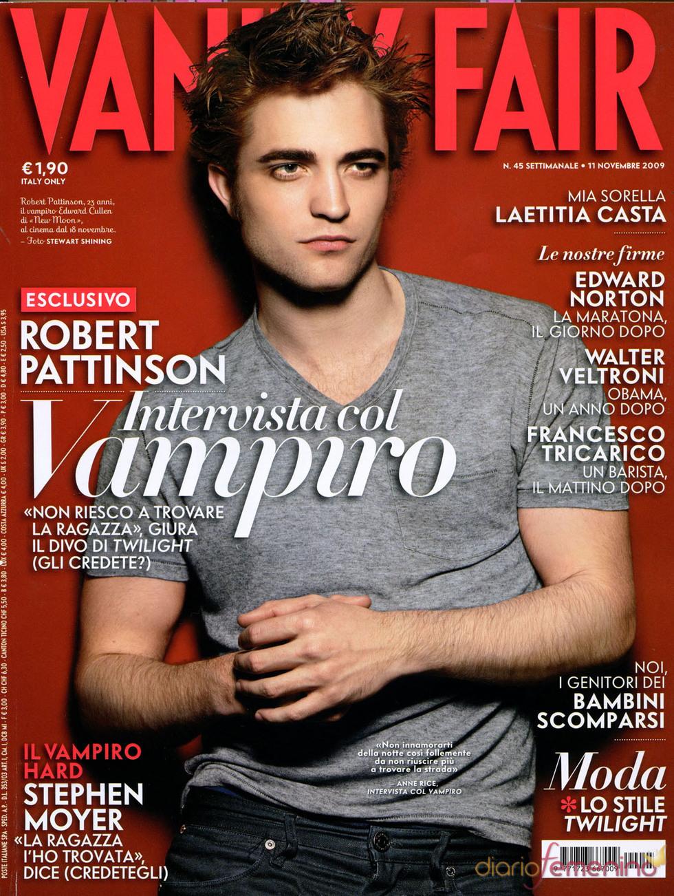 Robert Pattinson, portada de 'Vanity Fair'