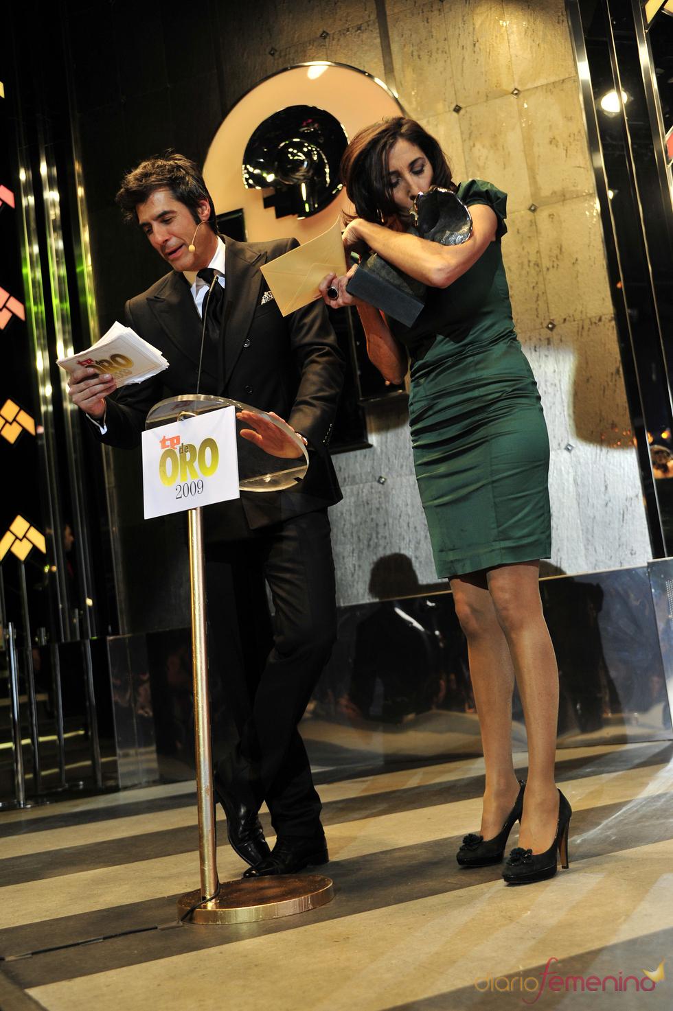 Paz Padilla y Jorge Fernández en los premios TP 2009