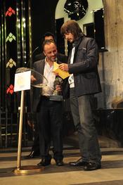 David Janer y Javier Gutiérrez en los Premios TP 2009