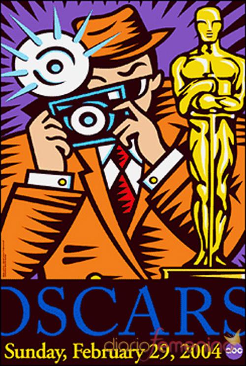 Cartel oficial de la gala de los Oscars 2004