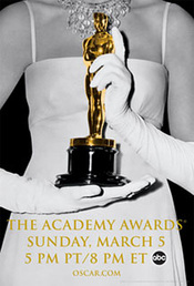 Guantes blancos - Póster oficial de la gala de los Oscars 2006