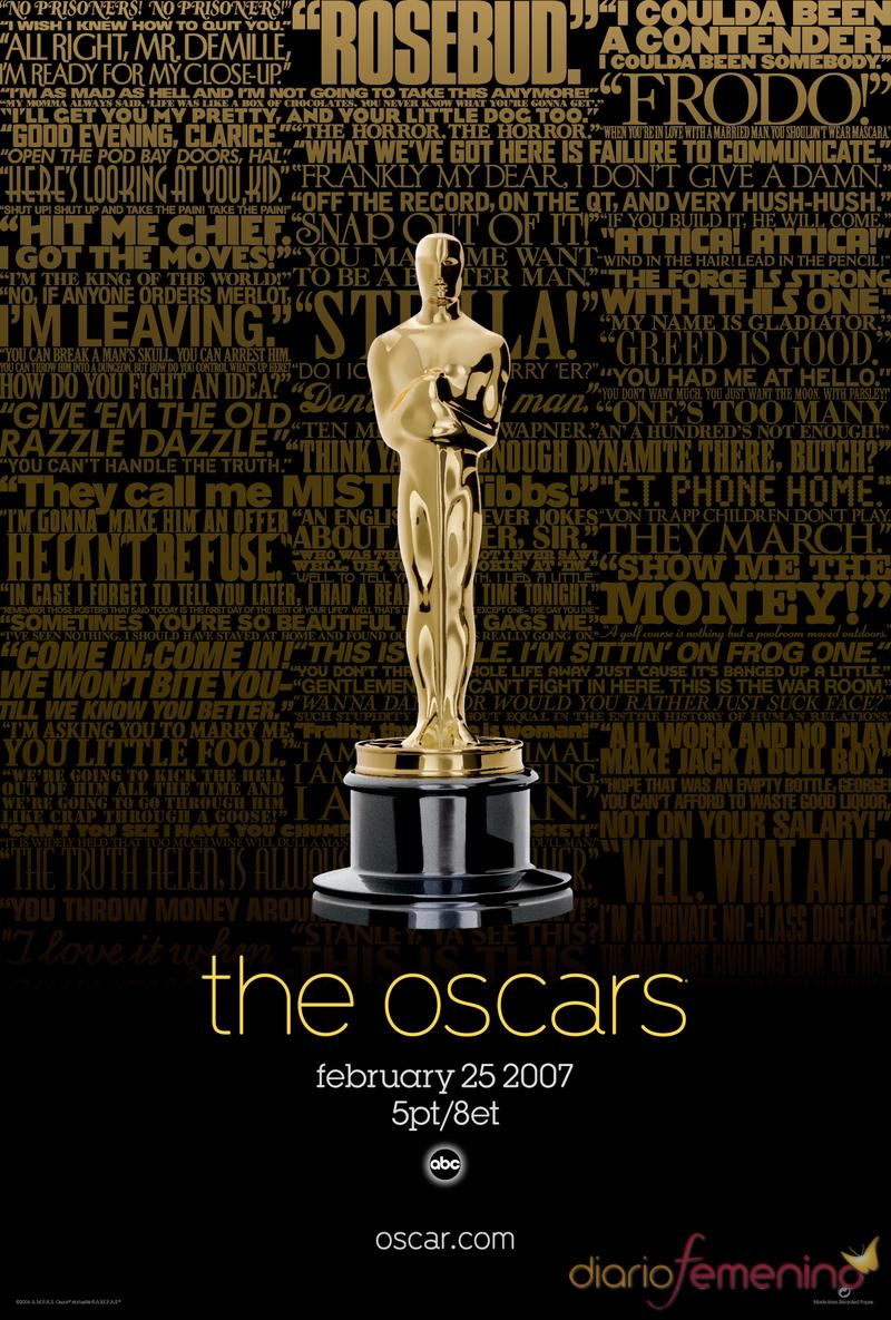 Póster oficial de los Oscars 2007