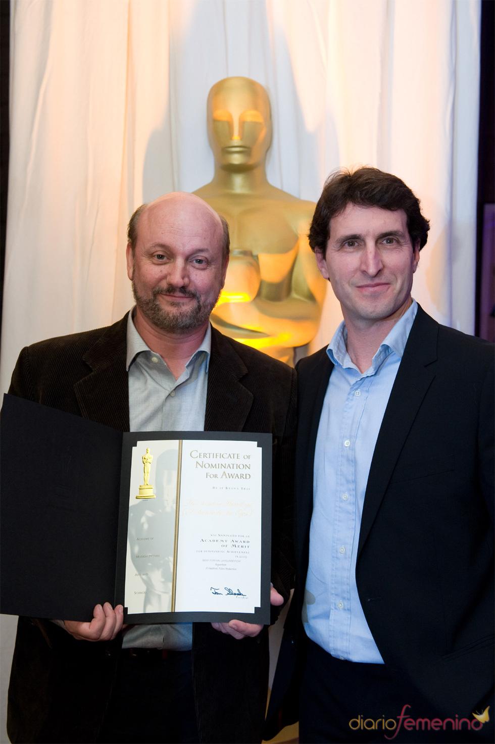 Juan Jose Campanella recibe premio por 'El Secreto de Sus Ojos' en los Oscars 2010