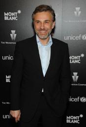 Christoph Waltz en la fiesta previa a los Oscars