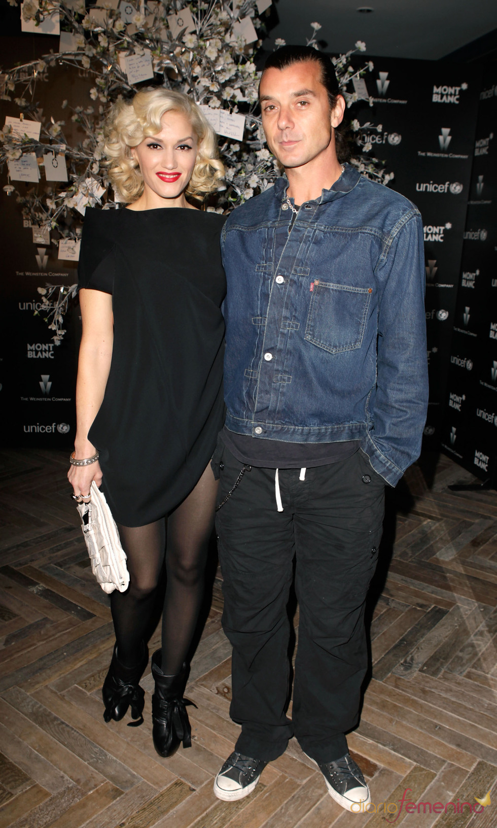 Gwen Stefani y Gavin Rossdale en la antesala de los Oscars