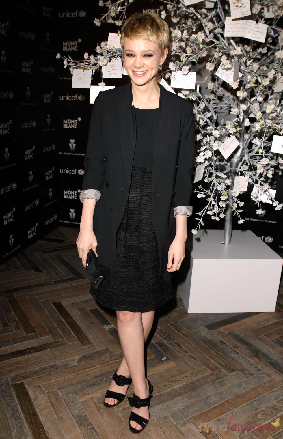 Carey Mulligan en la fiesta previa a los Oscars 2010