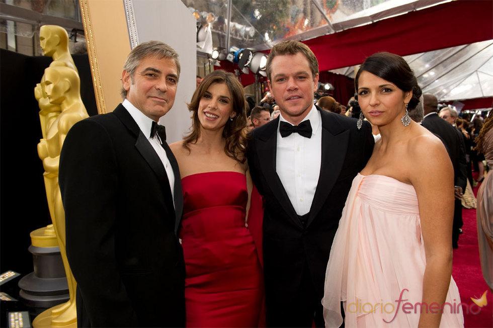 George Clooney y Matt Damon juntos en la Alfombra Roja