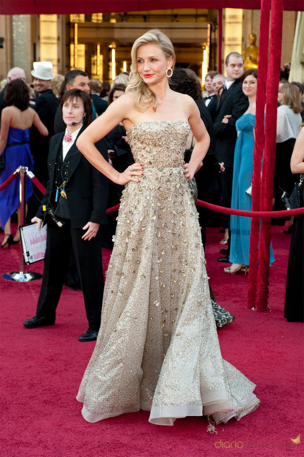 Una espectacular Cameron Diaz en los Oscars 2010