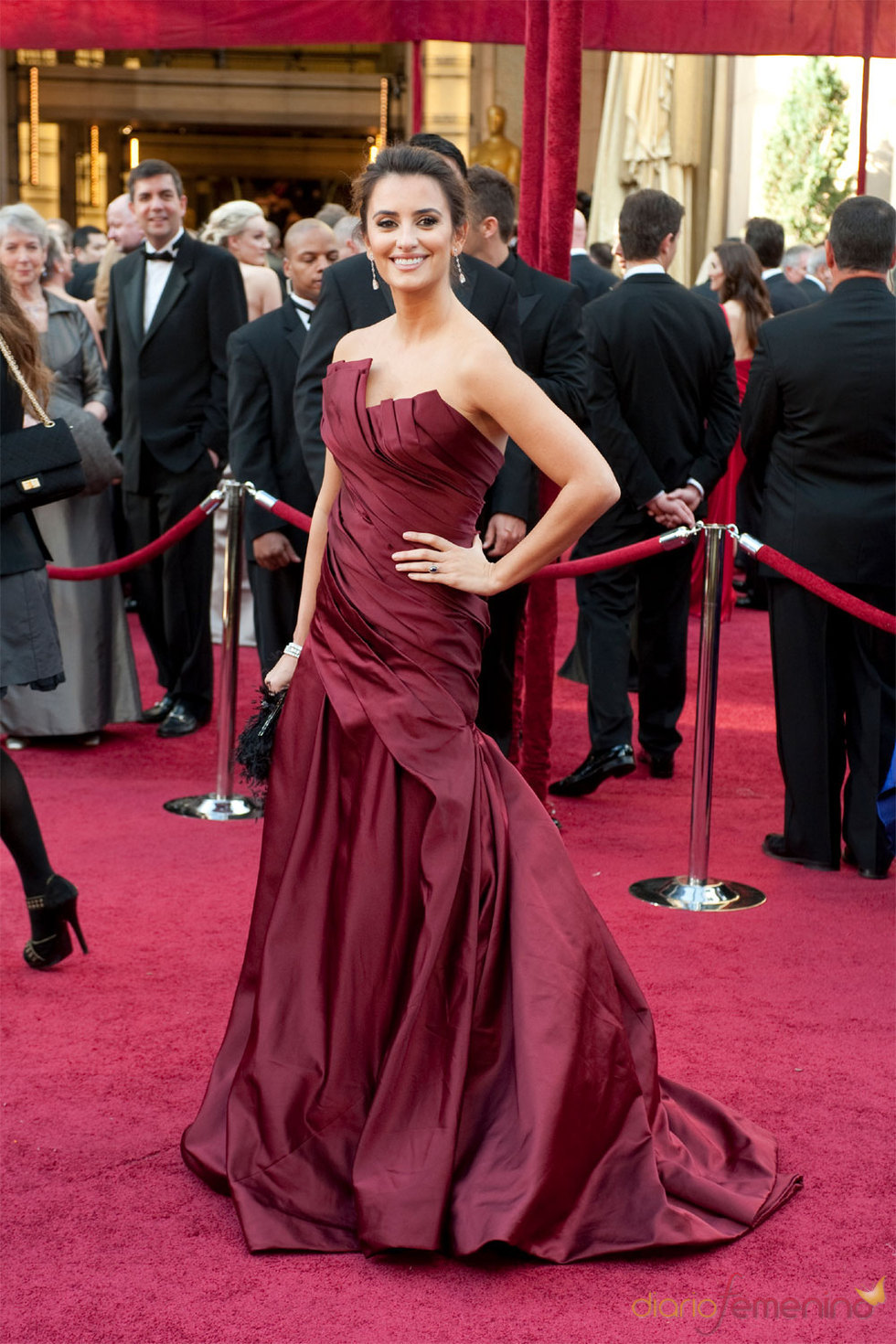 Penélope Cruz eligió un vestido de Donna Karan