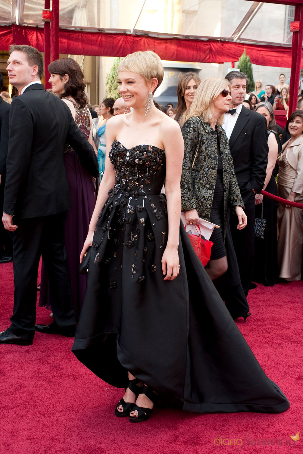 Carey Mulligan en la Alfombra Roja de los Oscars 2010