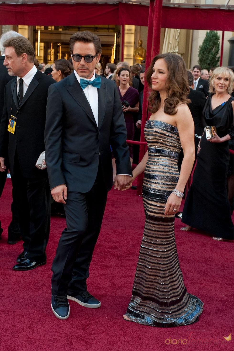 Robert Downey Jr. en la Alfombra Roja de los Oscars 2010