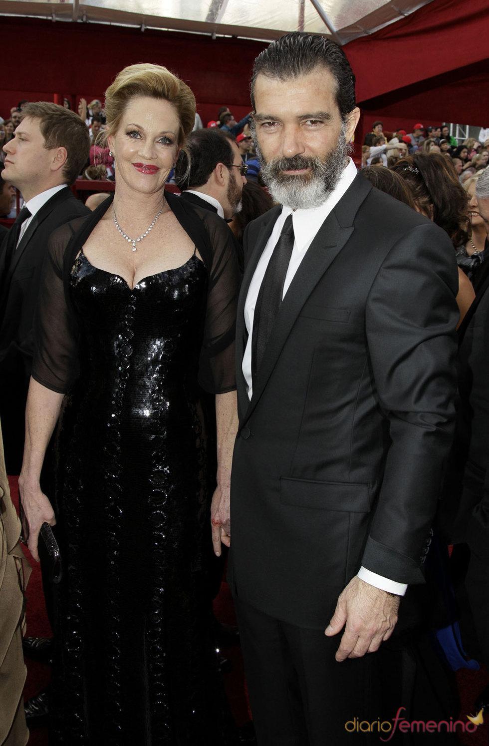 Antonio Banderas y  Melanie Griffith en los Oscars 2010
