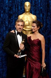 Penélope Cruz congratula a Christoph Waltz