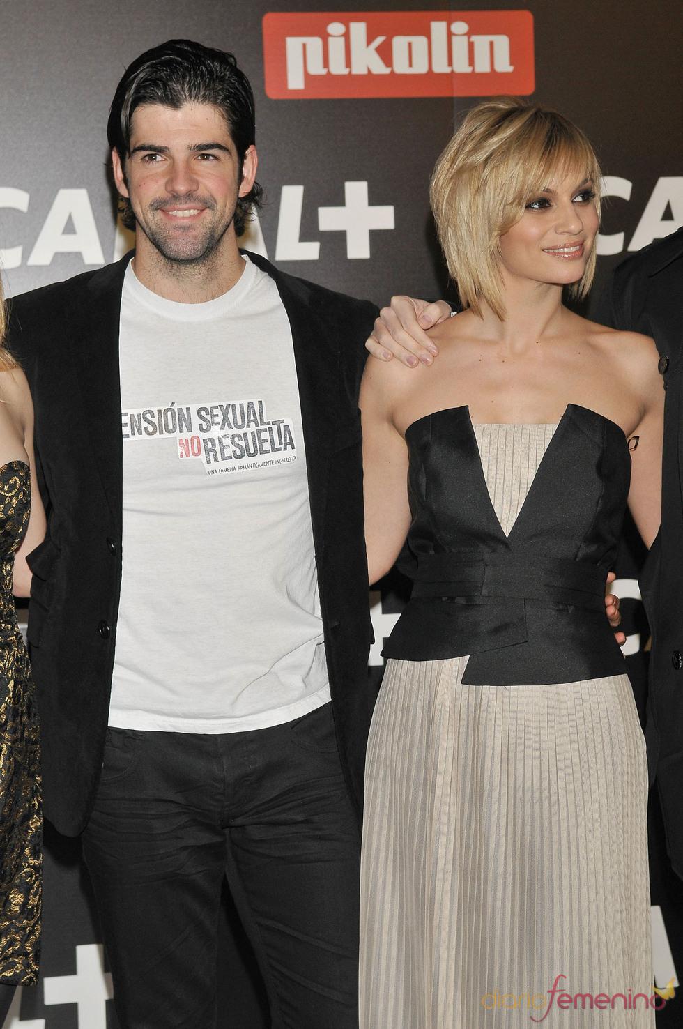 Norma Ruiz y Miguel Ángel Muñoz en la Fiesta de los Oscars 2010 de Canal+