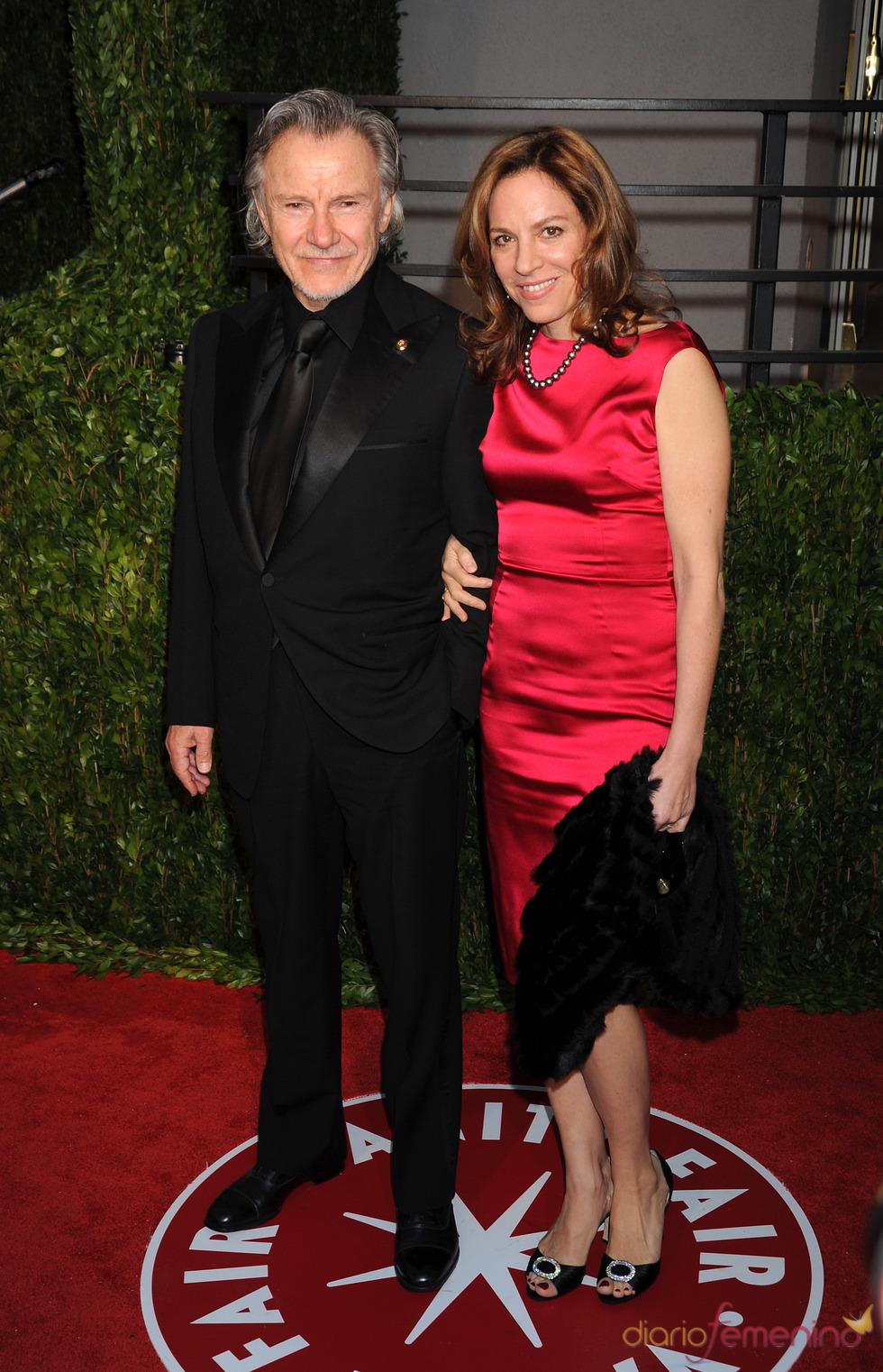 Harvey Keitel y Dapna Kastner en la fiesta Vanity Fair Oscar 2010