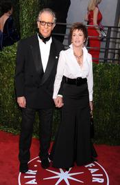 Richard Perry y Jane Fonda en la fiesta Vanity Fair Oscar 2010