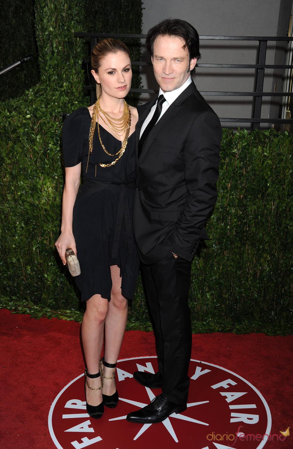 Anna Paquin y Stephen Moyer en la fiesta Vanity Fair Oscar 2010