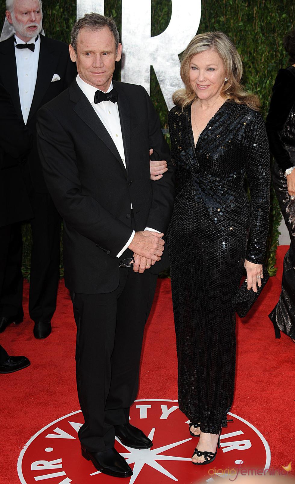 Catherine O'Hara y Bo Welch en la fiesta Vanity Fair Oscar 2010