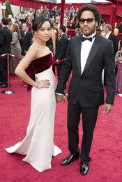 Lenny Kravitz and Zoe Kravitz en la Alfombra Roja de los Oscars 2010