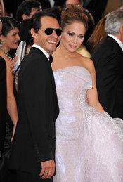 Marc Anthony y Jennifer Lopez en la Alfombra Roja de los Oscars 2010