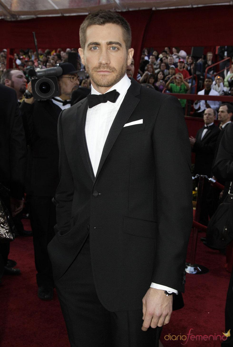 El actor Jake Gyllenhaal en la Alfombra Roja de los Premios oscar 2010