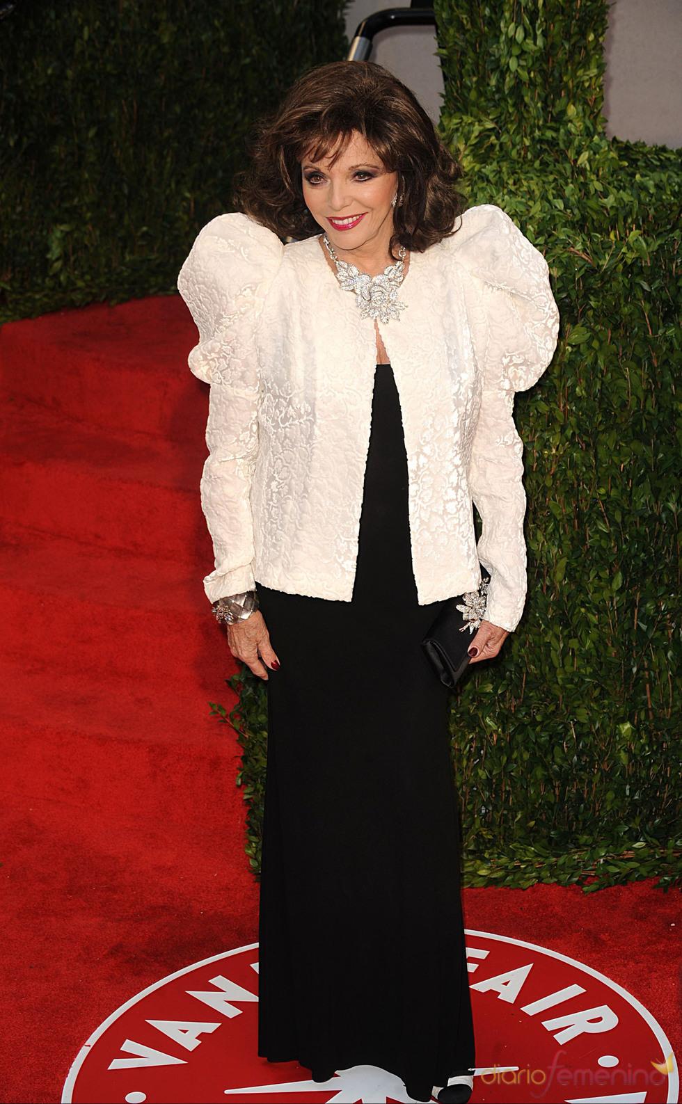 Joan Collins en la fiesta Vanity Fair Oscar 2010