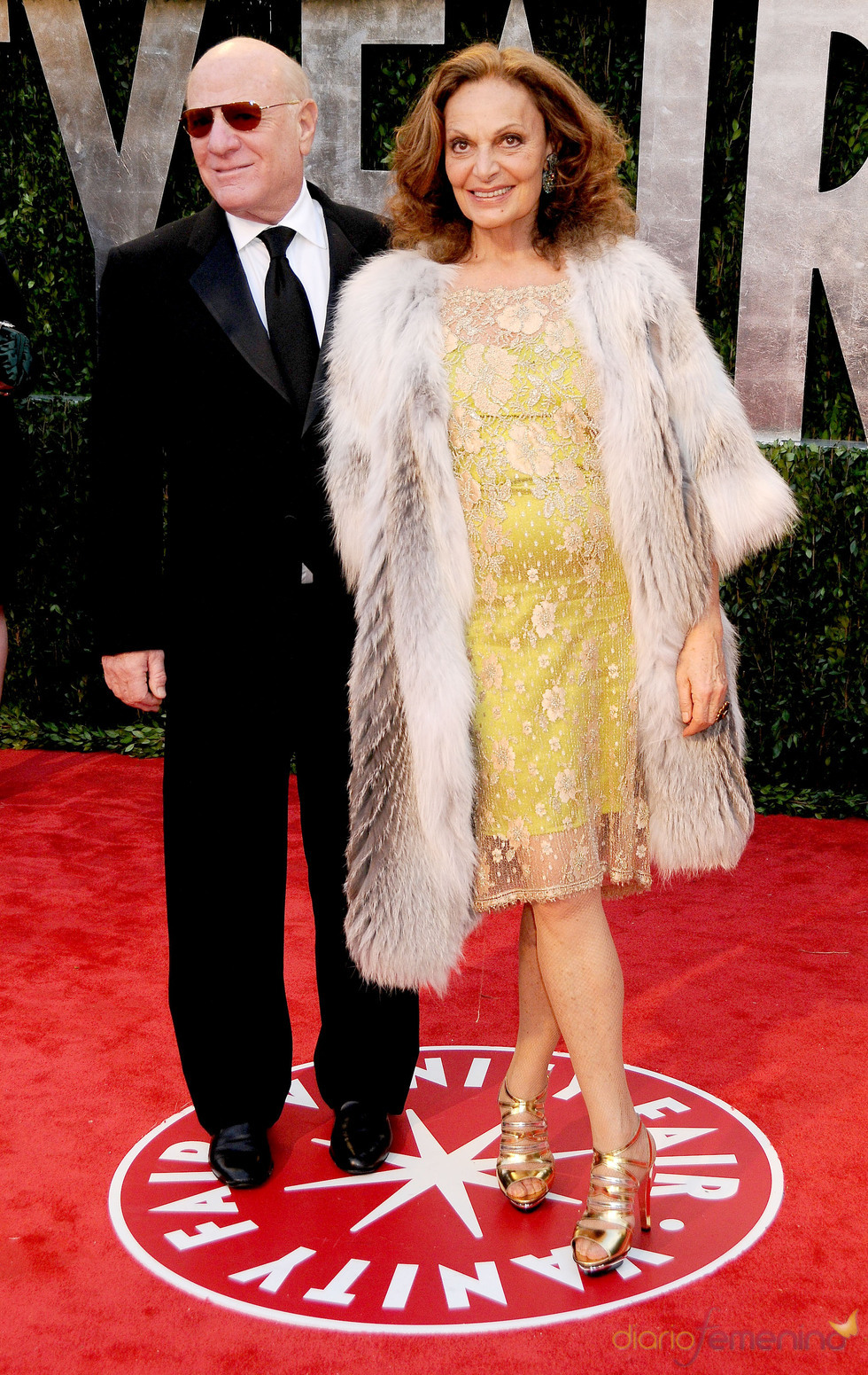 Diane von Furstenberg y Barry Diller en la fiesta Vanity Fair Oscar 2010