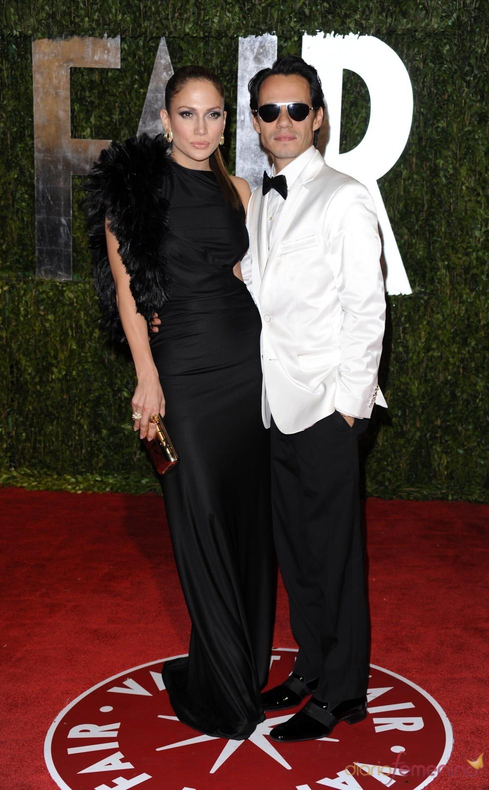 Jennifer Lopez y Marc Anthony en la fiesta Vanity Fair Oscar 2010