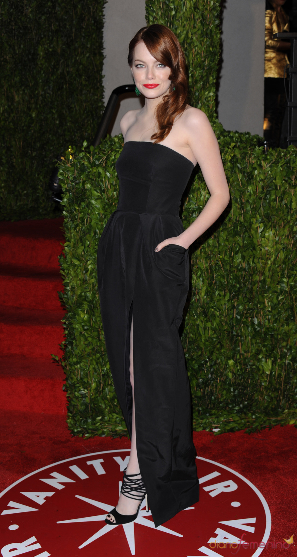 Emma Stone en la fiesta Vanity Fair Oscar 2010