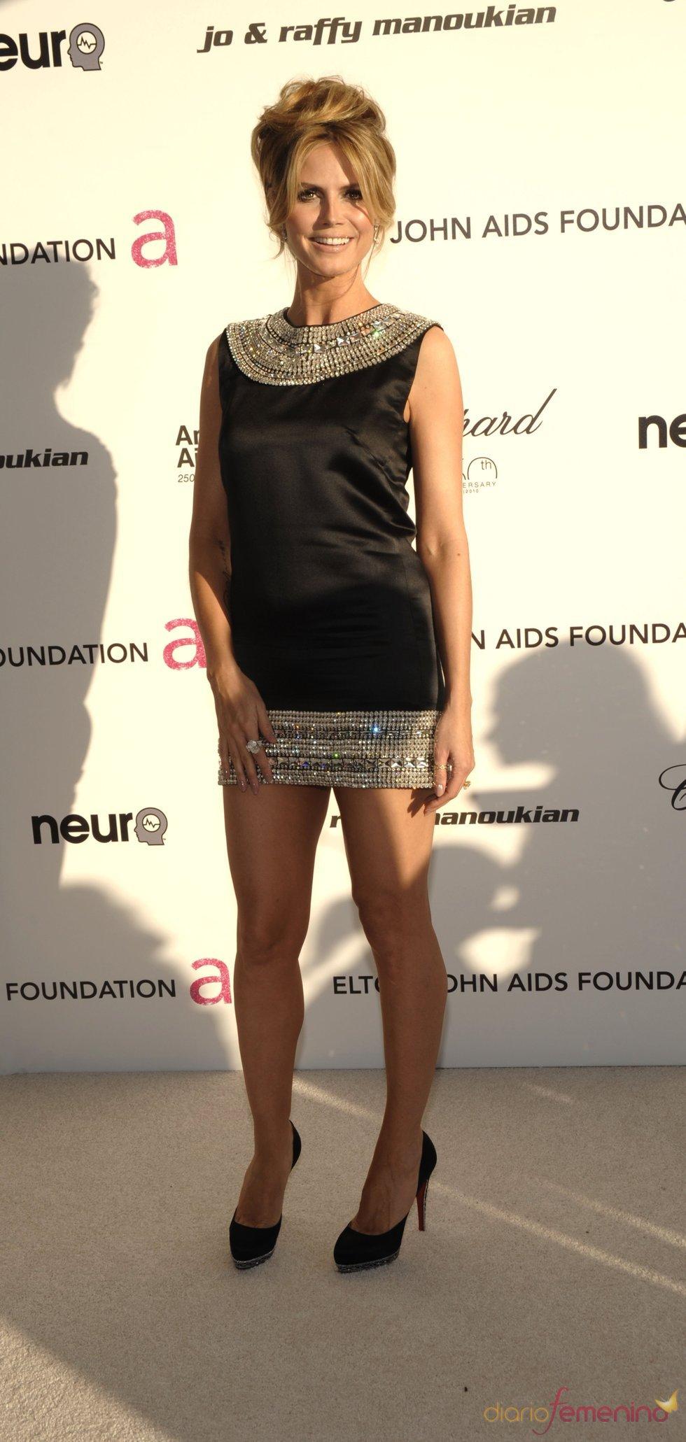 Heidi Klum en la fiesta Elton John Oscar 2010