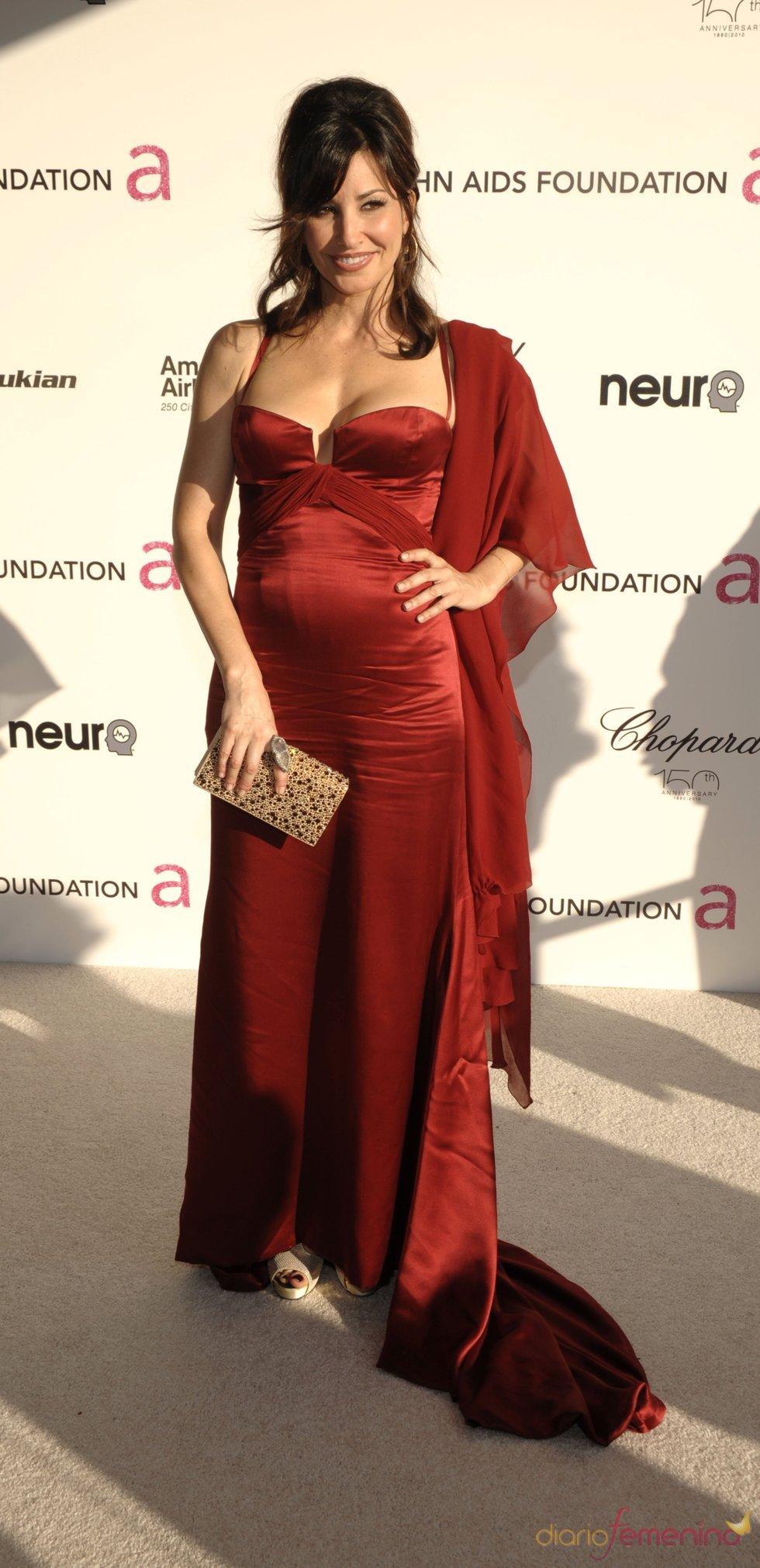Gina Gershon en la fiesta Elton John Oscar 2010