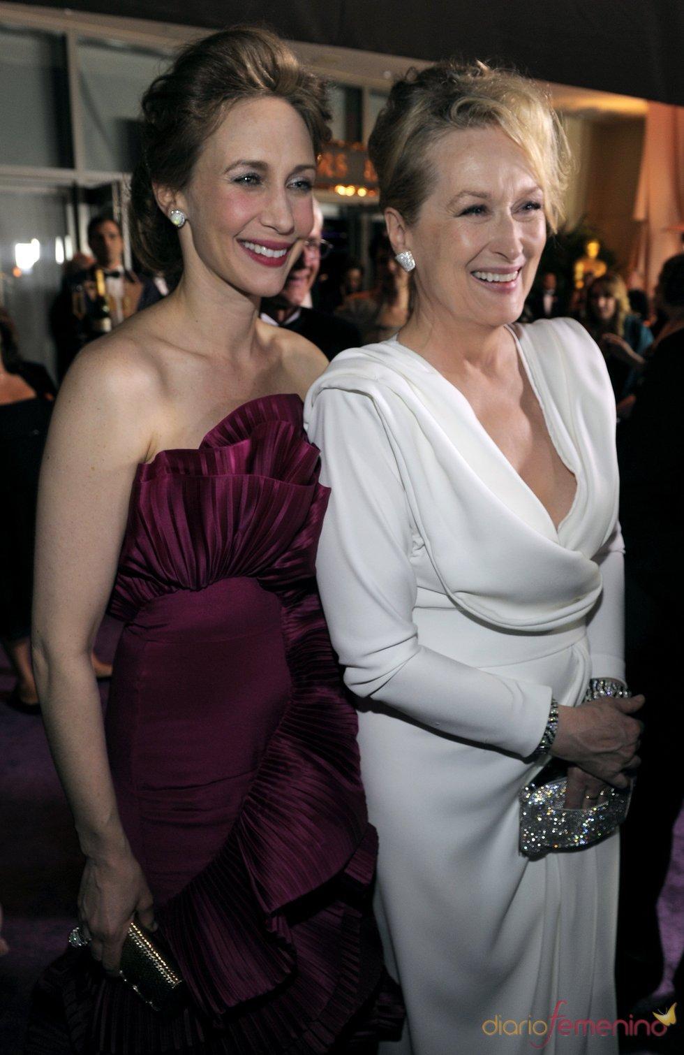 Vera Farmiga y Meryl Streep  en el baile Governors Ball, tras los Oscar 2010