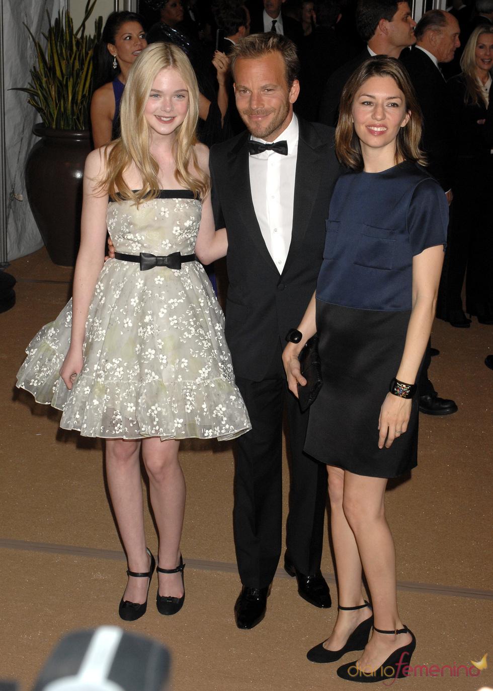Stephen Doff, Elle Fanning y Sofia Coppola en los Governors Awards 2010