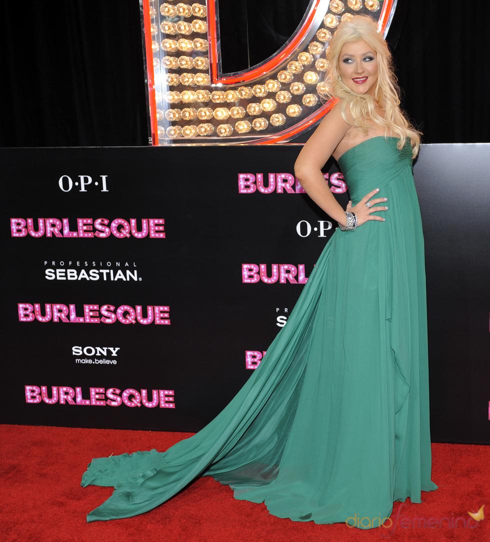 Christina Aguilera en la premiere de 'Burlesque'