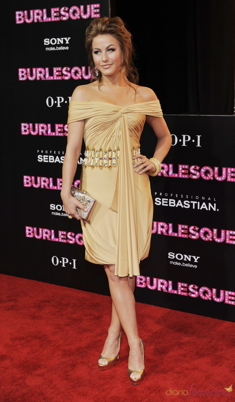 Julianne Hough en la premiere de 'Burlesque'