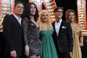 Protagonistas en la premiera de 'Burlesque'