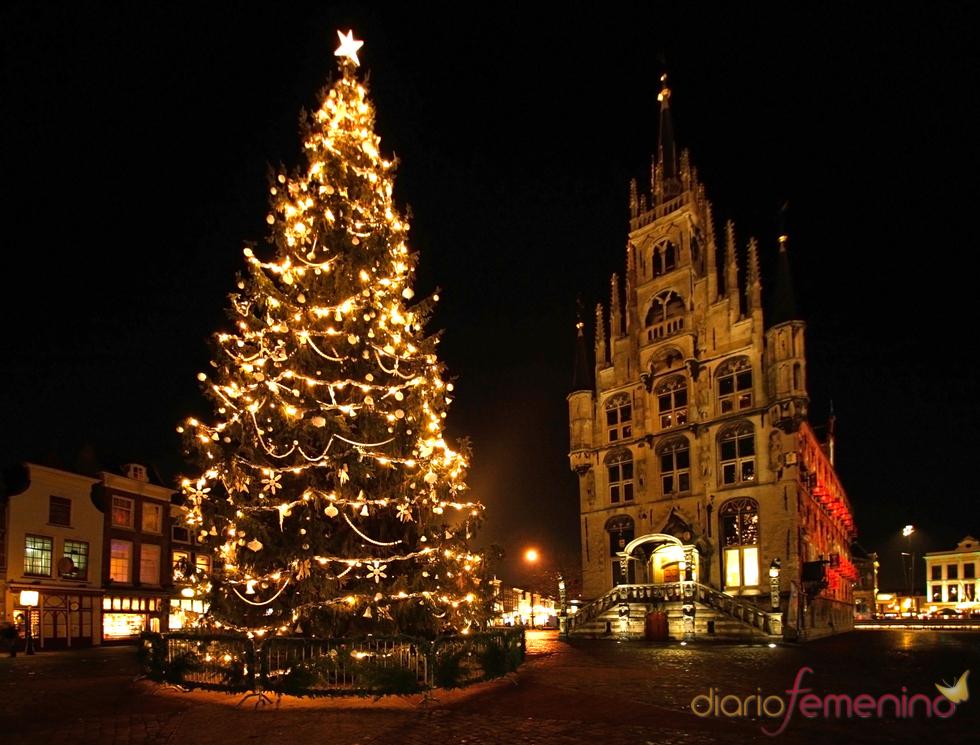 Árbol de Navidad en Gouda, Holanda