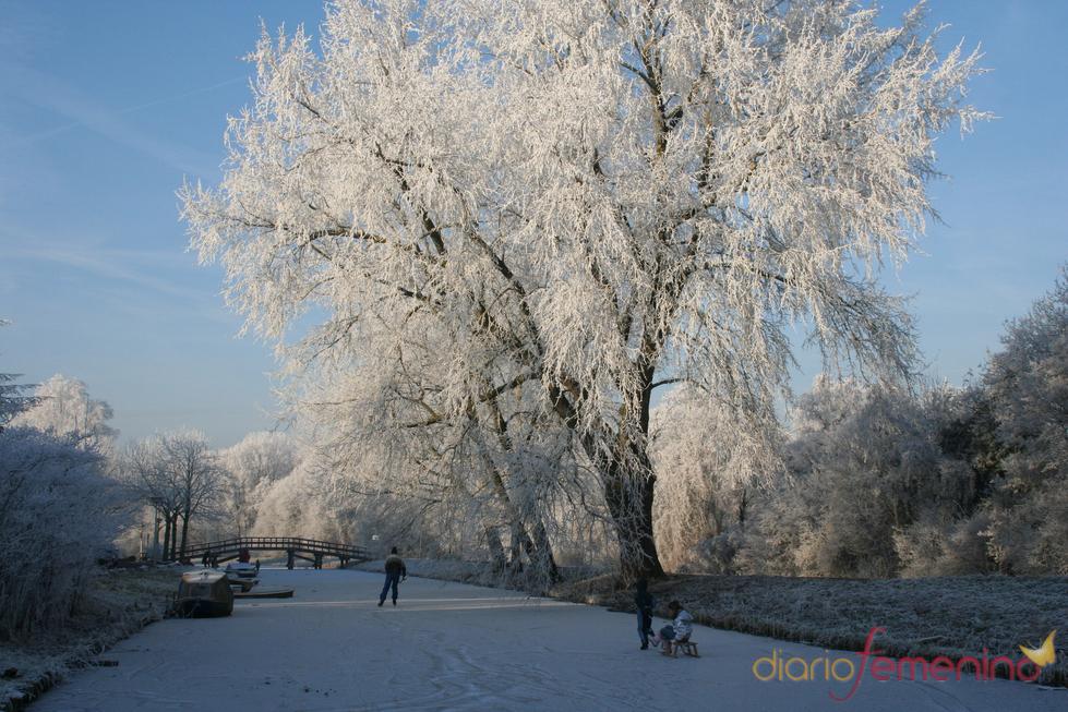 Patinar sobre hielo en los canales de Amsterdam
