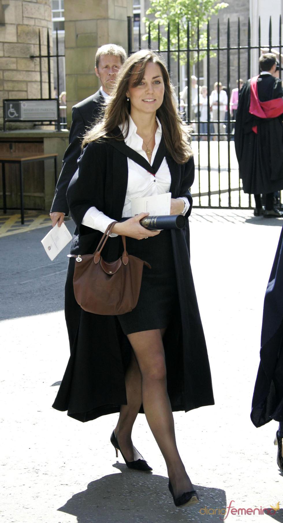 Kate Middleton en el acto de graduación en St. Andrews