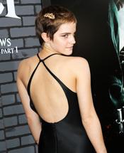 Emma Watson presumiendo de espalda