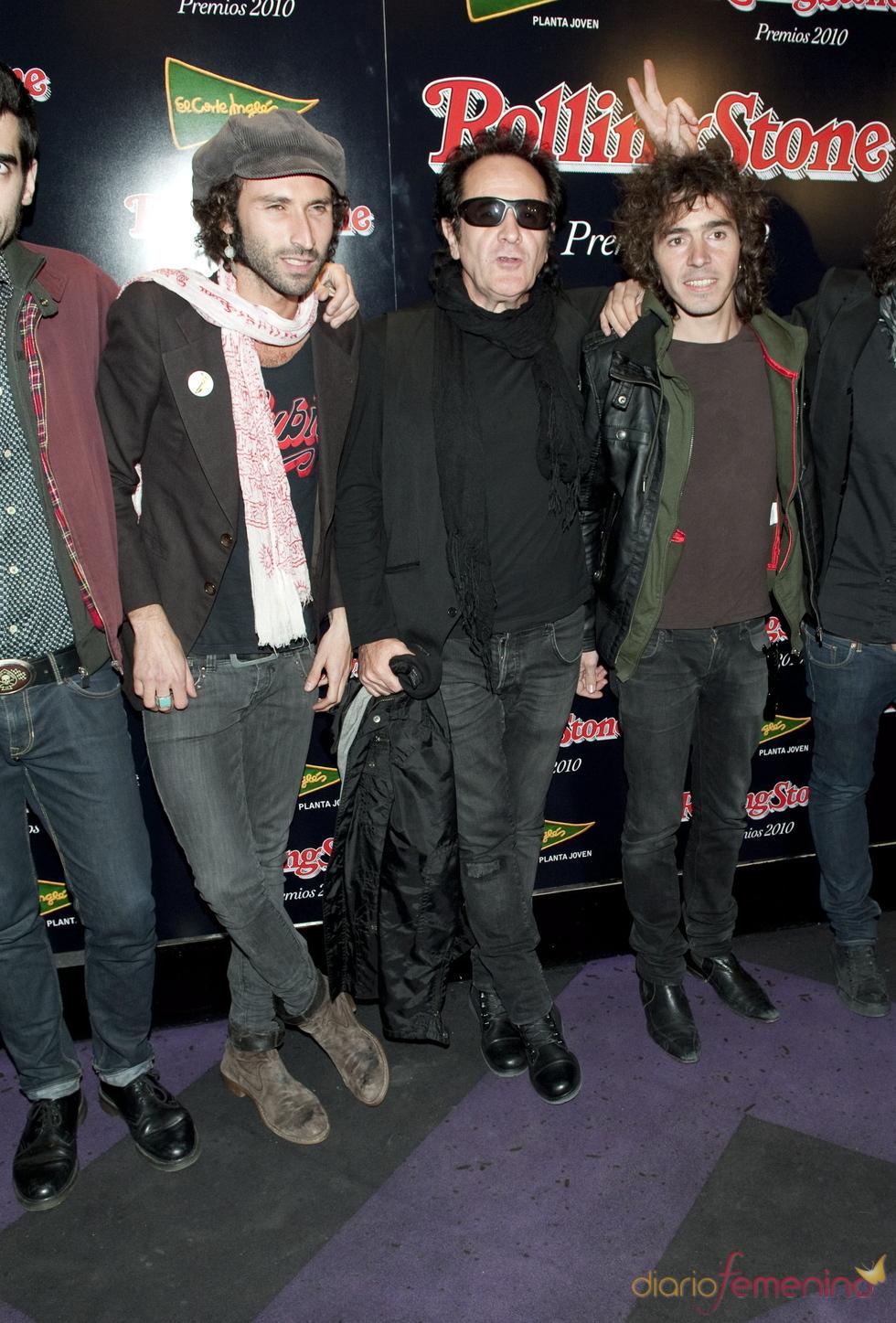 Pereza y Johnny Cifuentes en los Premios Rolling Stone 2010