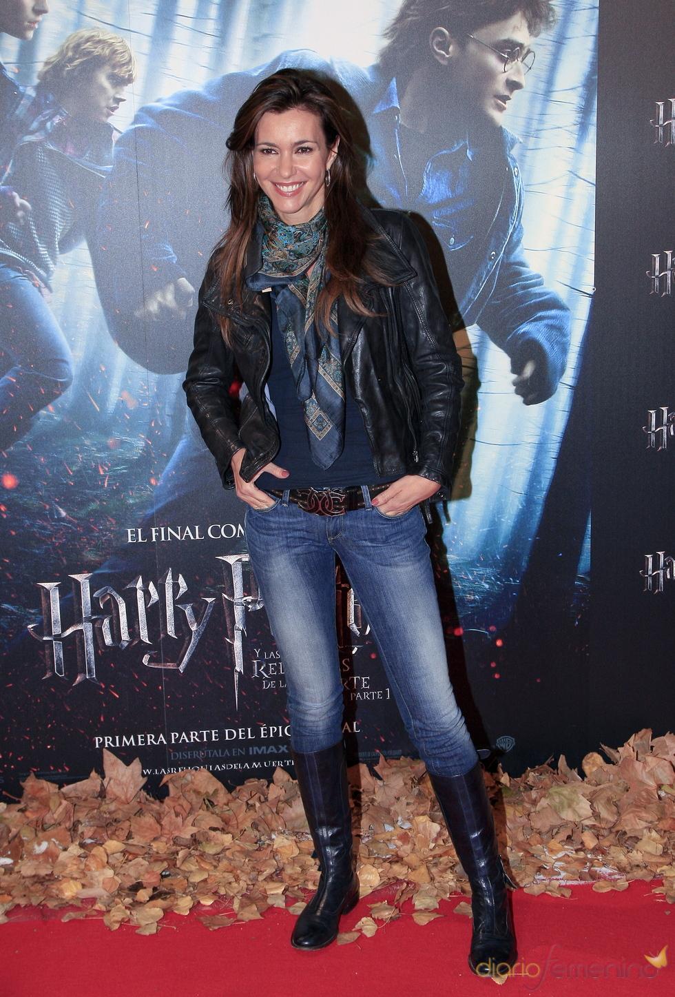 Arancha del Sol en el estreno de 'Harry Potter y las reliquias de la muerte'