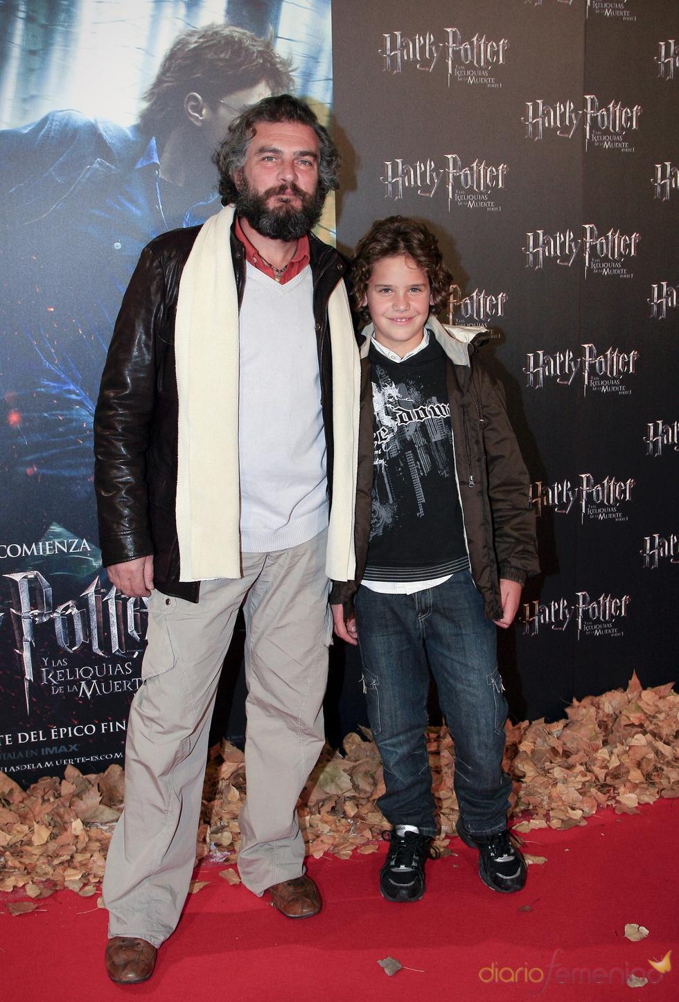 Luis Fernando Alves en el estreno de 'Harry Potter y las reliquias de la muerte'