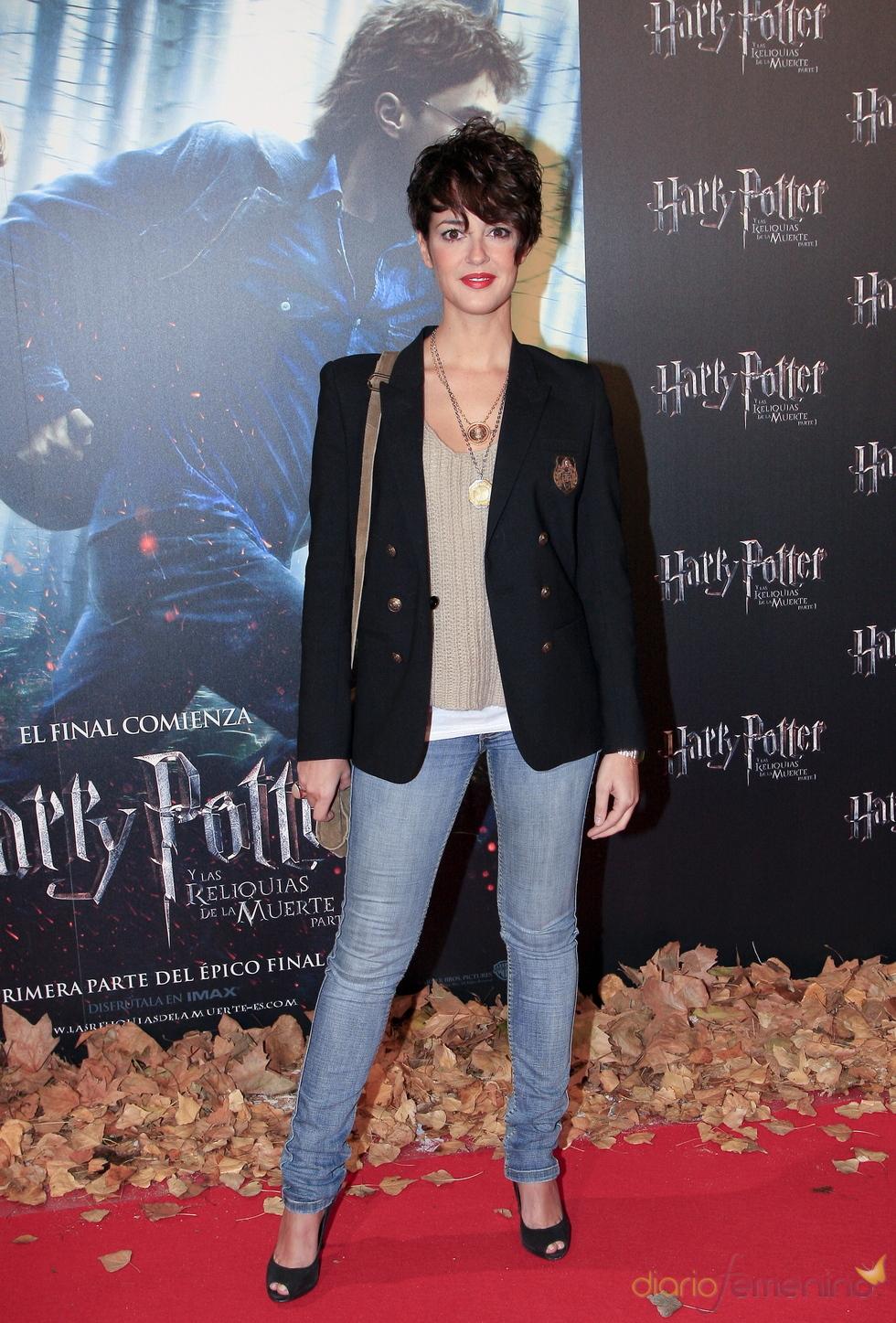 Vega en el estreno de 'Harry Potter y las reliquias de la muerte'