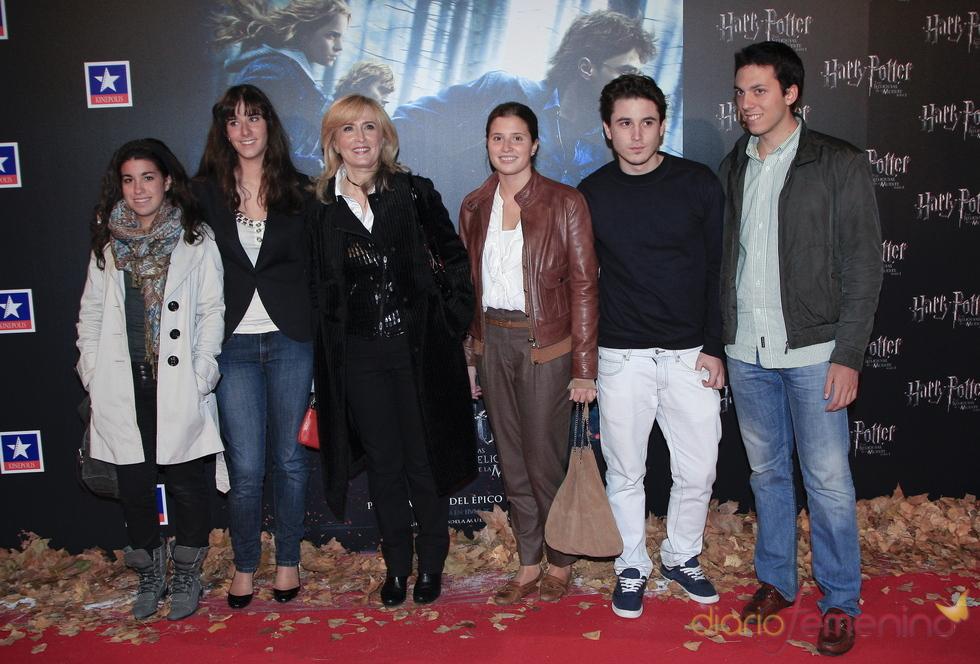 Nieves Herrero y su familia, fans de Harry Potter