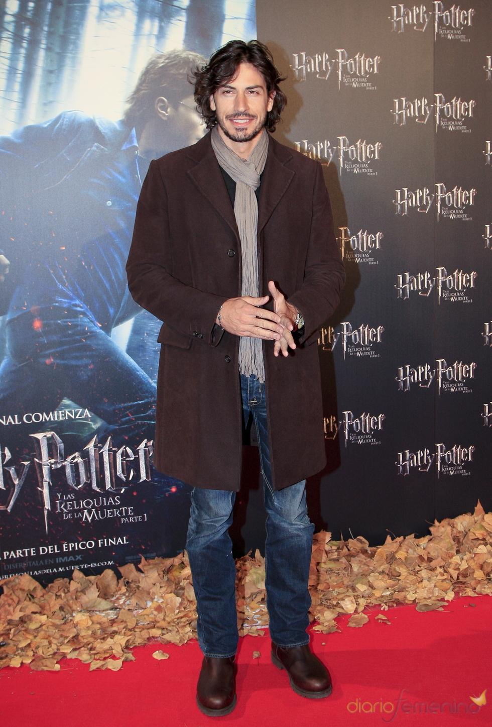 Pablo Martín en el estreno de 'Harry Potter y las reliquias de la muerte'