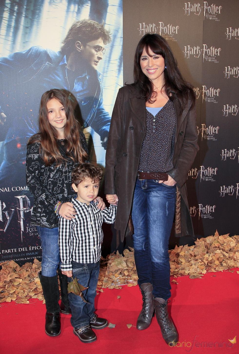 Minerva Piquero y su familia, fans de Harry Potter