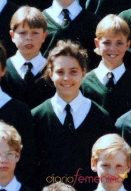 Kate Middleton de pequeña y con uniforme