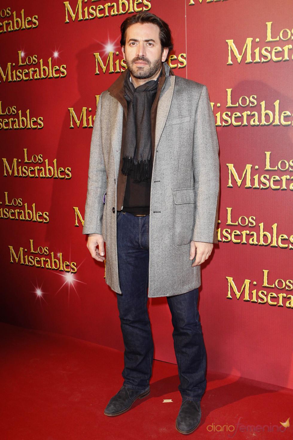 Antonio Garrido acudió al estreno de 'Los Miserables'